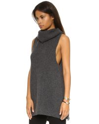 Free People - Gray Need It Now Vest - Charcoal - Lyst