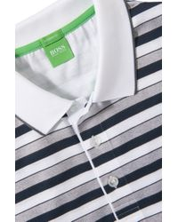 BOSS Green - Blue Regular-fit Polo Shirt 'paddy 3' In Cotton for Men - Lyst