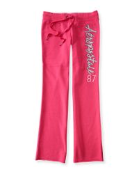Aéropostale | Pink Aero Fit & Flare Sweatpants | Lyst