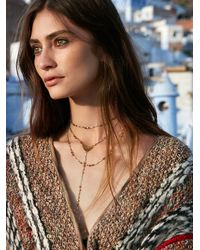Free People | Metallic Paint The Sky Rosary Necklace | Lyst