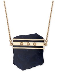 Lucky Brand | Blue Gold-tone Lapis Pendant Necklace | Lyst