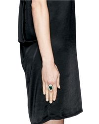 Kenneth Jay Lane | Green Emerald Crystal Ring | Lyst