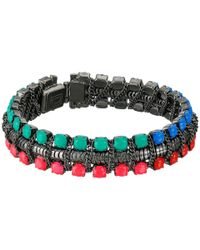 DANNIJO | Multicolor Giulia Oxidized Goldtone Swarovski Crystal Bracelet | Lyst