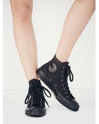 Converse - Black Monochrome Hi Tops - Lyst