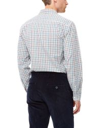 Jaeger - Purple Tattersall Check Shirt for Men - Lyst