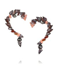 Vickisarge | Metallic Birds Of Paradise Hematite-Plated Crystal Earrings | Lyst