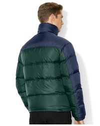Polo Ralph Lauren | Green Colorblocked Quilted Trek Jacket for Men | Lyst