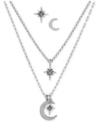 Lucky Brand | Metallic Silver-tone Crystal Star And Moon Jewelry Set | Lyst