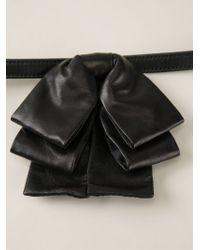 Saint Laurent | Black Layered Bow Tie for Men | Lyst