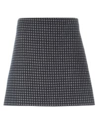 Theory - Blue Jacquard A-line Skirt - Lyst