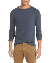 Billy Reid - Blue Honeycomb Raglan Pullover for Men - Lyst