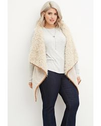 Forever 21 | Natural Plus Size Faux Fur Vest | Lyst