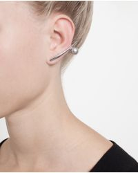 Ryan Storer - Metallic Ear Bar With Swarovski Pearls - Lyst
