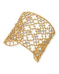 Alexis Bittar - Metallic Gilded Muse Dore Crystal-Studded Cuff Bracelet - Lyst
