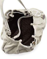 Furla - Natural New Blossom Snake Embossed Leather Hobo Bag Roccia - Lyst