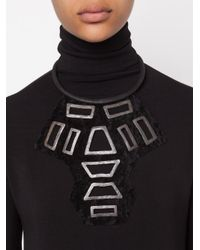 Urban Zen | Black ' Shield' Necklace | Lyst