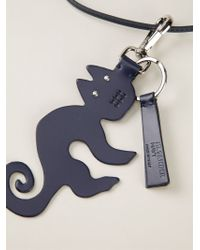 Jil Sander Navy - Blue Cat Pendant Necklace - Lyst
