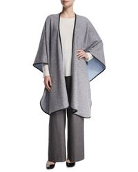 Eskandar - Blue Reversible Cashmere-blend Cape - Lyst
