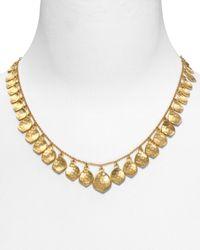 Lauren by Ralph Lauren - Metallic Hammered Teardrop Necklace  - Lyst