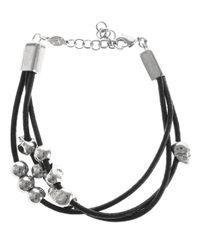Alexander McQueen - Metallic Skull Bead Bracelet - Lyst