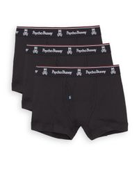 Psycho Bunny - Black Vintage Cotton Boxer Briefs, 3-pack for Men - Lyst