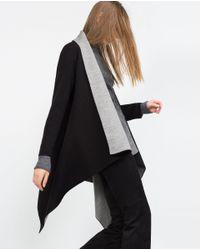 Zara | Black Double-sided Cardigan | Lyst