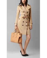 Burberry | Metallic The Large Clifton In Signature Grain Nubuck Leather | Lyst