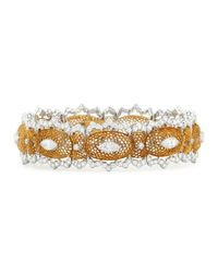 Buccellati - Metallic Tulle Filigree Diamond Bracelet - Lyst