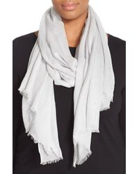 Eileen Fisher | Gray Modal Shimmer Scarf | Lyst