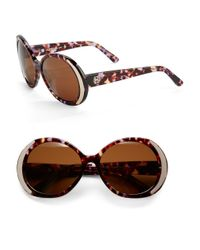 House of Harlow 1960 | Purple Nicole 60mm Round Sunglasses | Lyst