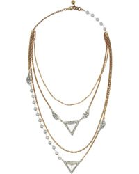 Lulu Frost | Blue Pearl Reign Gold-plated Crystal and Freshwater Pearl Necklace | Lyst