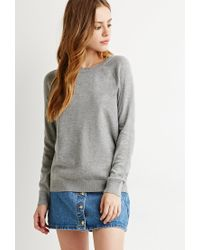 Forever 21 | Gray Classic Raglan Sweater | Lyst