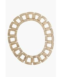 Rachel Zoe | Metallic 'Eloise' Leather Link Collar Necklace | Lyst