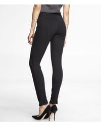 Express - Black Twill Tailored Ankle Zip Legging - Lyst