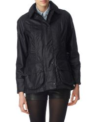 Barbour - Blue Classic Beadnell Waxed Jacket - Lyst