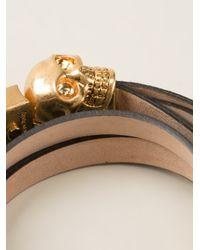 Alexander McQueen | Black Skull Detail Bracelet | Lyst