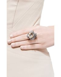Lydia Courteille | Gray 18k Black Gold Animal Farm Ring with Diamonds and Onyx | Lyst