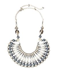 Nakamol - White Crystal And Pearl Bib Necklace - Lyst