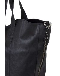 TOPSHOP | Black Casual Leather Tote Bag | Lyst