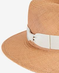Hat Attack | Brown Continental Straw Panama Hat | Lyst