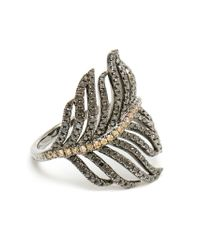 Rosa De La Cruz | Black Diamond Feather Ring | Lyst