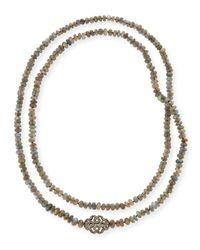 Siena Jewelry - Metallic Labradorite & Diamond Station Long Necklace - Lyst