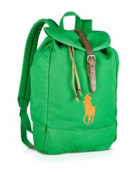 Ralph Lauren | Green Polo Canvas Backpack for Men | Lyst