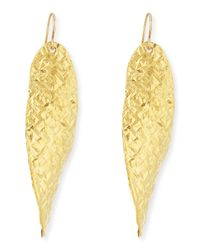 Devon Leigh | Metallic 18k Gold Dipped Textured Wave Earrings | Lyst