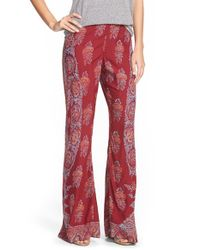 Billabong | Red 'open Waters' Floral Print Beach Pants | Lyst