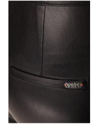 BOSS Orange   Black Biker Trousers In Leather-effect 'siloka'   Lyst