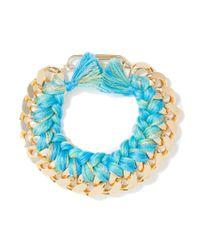 Aurelie Bidermann | Blue Do Brazil Bracelet In Ocean | Lyst