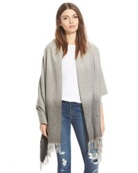 Nordstrom Collection - Gray Ombre Cashmere Wrap - Lyst