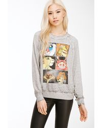 Forever 21 - Gray Lion King Heathered Pullover - Lyst