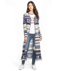 Billabong | Blue 'fade To Dusk' Stripe Cardigan | Lyst